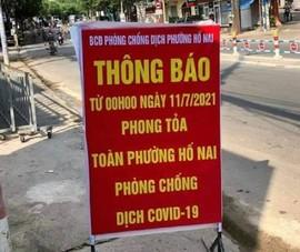 Đồng Nai phong tỏa 6 phường TP Biên Hòa với hơn 250.000 nhân khẩu