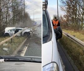 Xe Lamborghini suýt 'giết' thủ môn của MU