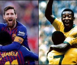 Pele nói gì khi hậu bối Messi san bằng kỷ lục?