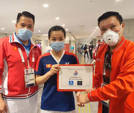 Hotgirl Thùy Linh xuất sắc hạ tay vợt Pháp ở Olympic