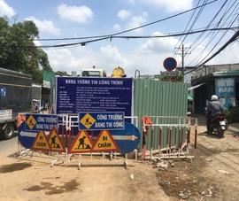 2 công trình giao thông ở TP Thủ Đức bị xử phạt
