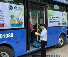 9 điểm xe buýt lưu động đang bán rau, củ tại TP.HCM