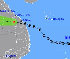 Bão số 6 suy yếu thành vùng áp, mưa lớn ở Trung Bộ