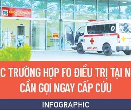 Các trường hợp F0 điều trị tại nhà cần gọi ngay cấp cứu