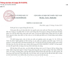 Công ty nước Sông Đà chính thức xin lỗi dân vụ nước nhiễm dầu