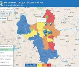 Hà Nội ra mắt bản đồ dò tìm thông tin dịch tễ COVID-19