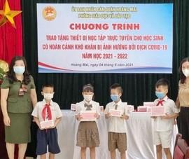 Hà Nội quyên góp được 2.345 máy tính và thiết bị học trực tuyến