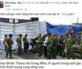 Lấy ảnh thảm sát Bình Phước bịa tin án mạng 8 người