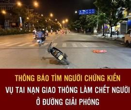 Công an tìm nhân chứng vụ xe máy tông người đi bộ ở Hà Nội