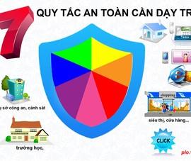 7 quy tắc an toàn cần dạy trẻ