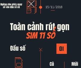 Toàn cảnh rút gọn SIM 11 số sang 10 số từ ngày 15-9-2018