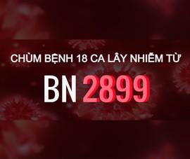 Chùm bệnh 18 ca lây nhiễm từ BN 2899