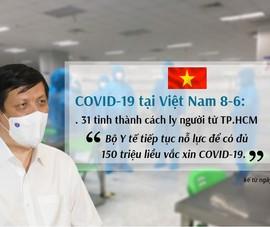 COVID-19 ở Việt Nam 8-6: Dịch ở 39 tỉnh thành, 31 tỉnh cách ly người từ TP.HCM