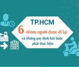 TP.HCM: 6 nhóm người được đi lại và những quy định bắt buộc phải thực hiện