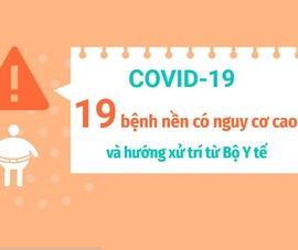Dịch COVID-19: 19 bệnh nền có nguy cơ cao và hướng xử trí từ Bộ Y tế