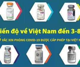 Tiến độ 6 loại vaccine Việt Nam cấp phép đã về được bao nhiêu?