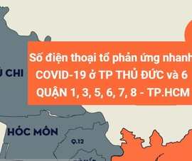 Số điện thoại tổ phản ứng nhanh COVID-19 TP Thủ Đức và các quận 1, 3, 5, 6, 7, 8