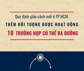 TP.HCM: Thêm 7 nhóm được hoạt động và 10 ngoại lệ được ra đường