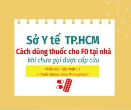 F0 tại nhà: Sở Y tế TP.HCM cập nhật cách dùng thuốc khi chưa gọi được cấp cứu