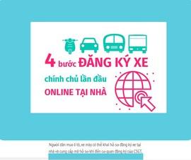 4 bước đăng ký xe chính chủ online tại nhà trên toàn quốc