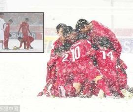 Cầu vồng tuyết ấm tình đồng đội
