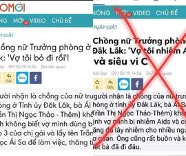 Nữ trưởng phòng ở Đắk Lắk nhiễm HIV là tin giả