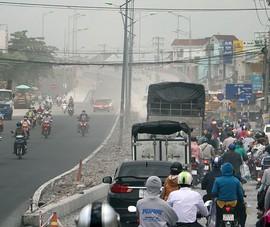 Dân than trời vì dự án nâng cấp đường gây bụi mù mịt