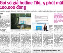 Sở TT&TT: Sẽ xử các hotline giả danh Tiki