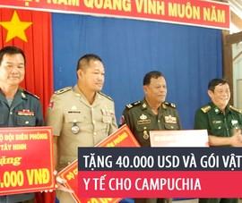 Tặng 40.000 USD và gói vật tư y tế cho Campuchia