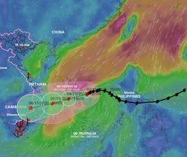 Bão số 10 hướng thẳng vào Quảng Ngãi - Khánh Hòa