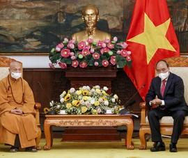 Video: Chủ tịch nước tiếp Đoàn đại biểu Giáo hội Phật giáo