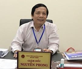 Quảng Ngãi điều cán bộ bị cảnh cáo làm Giám đốc Sở GTVT