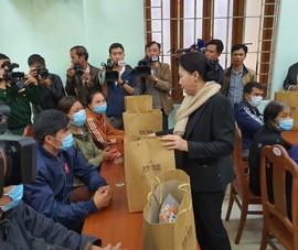 Chủ tịch Quốc hội thăm huyện bị sạt lở nặng ở Quảng Nam