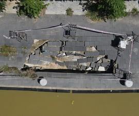 Kè bảo vệ phố cổ Hội An hơn 135 tỉ đồng bị sụt lún nghiêm trọng
