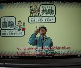 Cư dân Việt giúp thành phố Nhật làm video YouTube phòng chống thiên tai