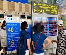 Từ 30-7, sân bay Nội Bài ngừng phát thanh thông tin chuyến bay