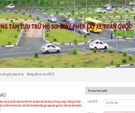 Website tra cứu thông tin giấy phép lái xe bị giả mạo