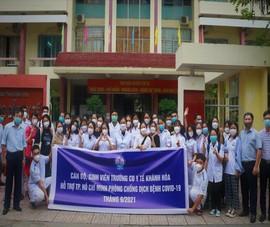 70 sinh viên Cao đẳng Y tế Khánh Hòa vào TP.HCM hỗ trợ chống dịch