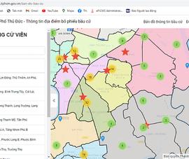 TP Thủ Đức ra mắt trang điện tử về bầu cử