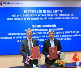 Việt Nam - Anh ký biên bản về vấn đề kháng kháng sinh