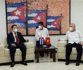 Trưởng Ban nội chính Trung ương Phan Đình Trạc gặp làm việc với phía Cuba