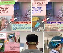 Hội đan móc len làm 'tai giả' gửi tuyến đầu chống dịch