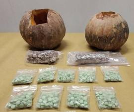 Singapore: Giấu heroin và thuốc lắc trong bí ngô