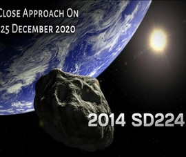 3 tiểu hành tinh sượt qua Trái đất dịp Giáng sinh