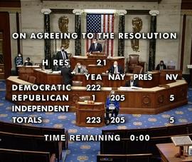 Hạ viện Mỹ thông qua nghị quyết về việc bãi nhiệm ông Trump