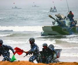 Trung Quốc tập trận đổ bộ tấn công phi pháp tại Hoàng Sa