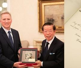Phái viên Đài Loan đến thăm tư gia của phái viên Mỹ tại Nhật