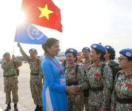 Lễ xuất quân của 64 chiến sĩ lên đường sang Nam Sudan