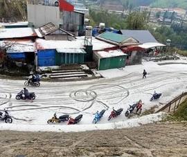 Mưa đá khủng khiếp ở Lai Châu