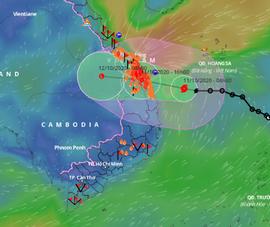 Bão số 6 đang nằm trên vùng biển Quảng Nam - Bình Định